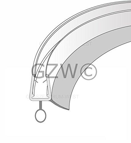 1 m Duschdichtung Runddusche Ersatzdichtung Wasserabweiser Schwallschutz Streifdichtung Viertelkreis GEBOGEN für eine Glassträrke von 5-8 mm