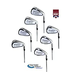 AGXGOLF Men's Tour Irons Set 4-9 Irons + Pitching Wedge + Bonus Sand Wedge, Stainless Steel: Senior, Regular or Stiff Flex Cadet, Regular or Tall Length; Right Hand