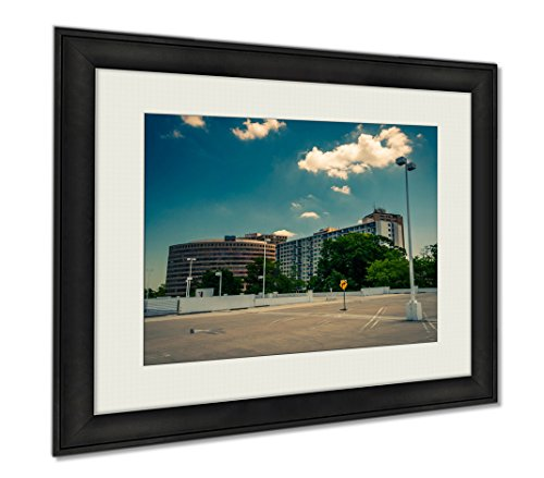 Ashley Framed Prints View Highrises From Top The Parking Garage Towson T, Wall Art Home Decoration, Color, 34x40 (frame size), - Maryland Towson Mall