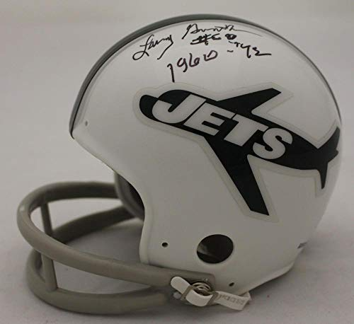 Larry Grantham Signed Mini Helmet - Jets TB 2Bar 23100 - JSA Certified - Autographed NFL Mini (Signed Titans Mini Helmet)