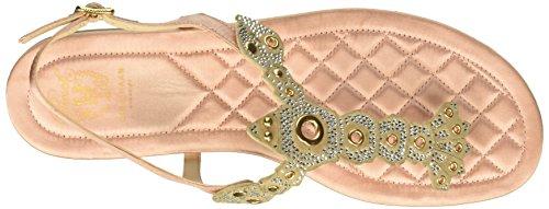 Cole Haan Women's Pinch Lobster Sandal Coral Almond Satin Swarovsk xSZnLfRz