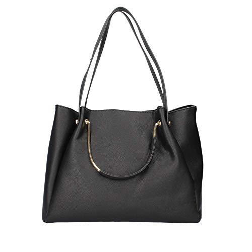 nero Donna Pelle Jbl001 Cafenoir Borsa 010 Shopping In Nera 5zvW8q