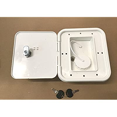 Valterra White Gravity Water Hatch Fill Dish Lock Keys RV Trailer: Automotive