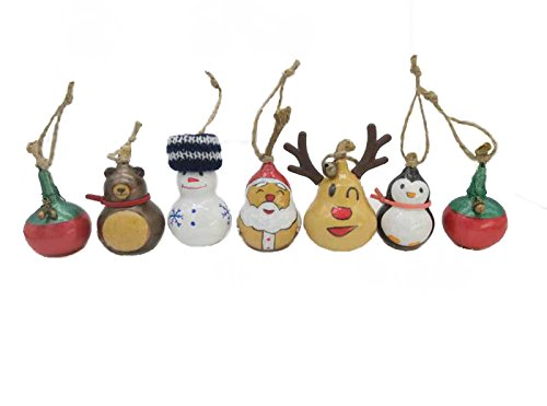 Santa Claus' Family 7 Pcs Box Set Christmas Tree Ornaments Handmade Gourd Art Crafts Gifts (7)
