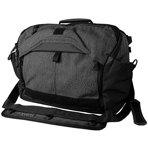 - Vertx EDC Courier Bag Messenger Laptop Bag Heather Black VTX5005