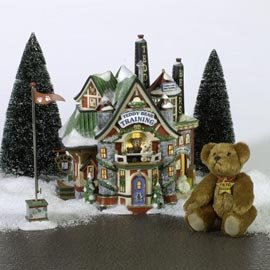 Department 56 North Pole Teddy Bear Training - Bay Dc Frost