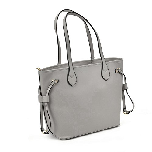 Sally Quality Tote Grey Detail Fashion With Leather Women Young Pu High Bag Metal A0wr7IAPqx