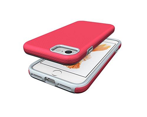 iPhone 7 Coque , Leiai Mode Ultra-mince Transparent Rouge Silicone Doux PC-TPU Housse Gel Etui Case Cover pour Apple iPhone 7