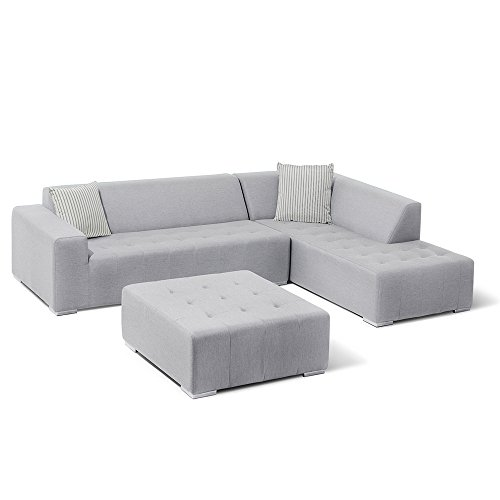 Price comparison product image Ove Decors EDEN 3PC Ove 3-Piece Outdoor Seating Set 3,  Grey