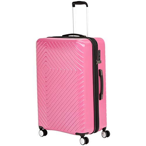 - AmazonBasics Geometric Hard Shell Carry-On Rolling Spinner Suitcase Luggage - 28 Inch, Pink