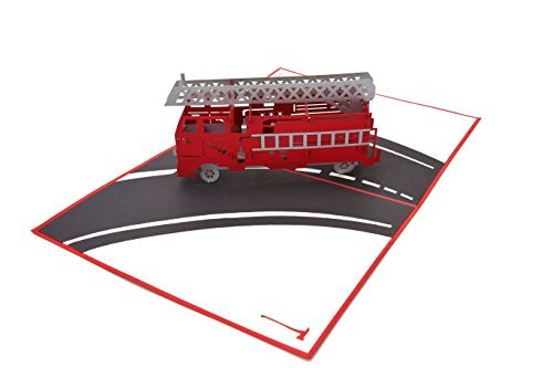 - PopLife Fire Engine 3D Pop Up Fathers Day Card - Happy Anniversary Pop Up Card, Birthday Popup, Firemen Gift, Retirement Fire Truck Card - for Dad, for Son, for Father, for Grandfather, for Grandson