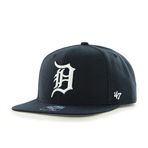 '47 Brand Tigres de Detroit Sure Shot Gorra Sombrero Marina casa MLB Azul - azul marino