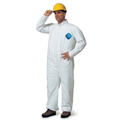 Dupont TY120S 5X Tyvek 1412 Coveralls Standard Suit with Zipper Front, 25 Per Case