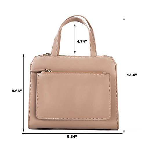 Apricot Pure Top Bags Leather Genuine Womens Handmade Quality Leather Shoulder Handbag TOUvW