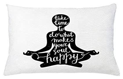 Amazon.com: Quote Throw Pillow Cushion Cover, Take Time to ...