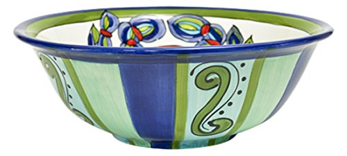 Christmas Tablescape Décor - Large ceramic crab inspired design multicolor serving bowl by Dana Wittmann