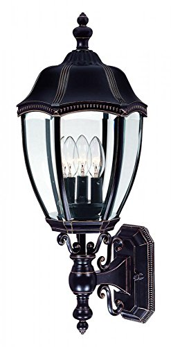"Dolan Designs 953-20 Roseville Outdoor Wall Light, 24"", Antique Bronze"