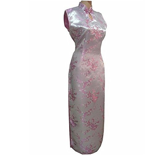 Thytas New Arrival Red Chinese Traditional Dress Women Silk Satin Cheongsam Long Dripping Qipao by Thytas (Image #3)