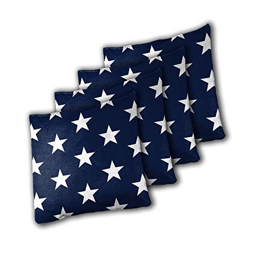 Backyard Champs 16oz Authentic Cornhole Stars and Stripes 8 Pack Bean Bag Set ()