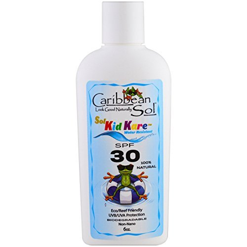 Caribbean Solutions Sol Kid Kare SPF 30 Water Resistant Sun Block, 6 Ounce