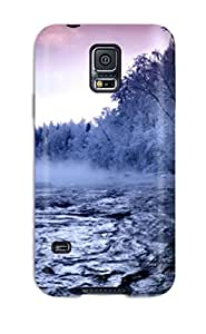Best 9776258K20357979 Awesome Case Cover Compatible With Galaxy S5 - Beautiful Winter Mountain Creek