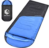 VENTURE 4TH Sleeping Bags Adults | Lightweight Compact Sleeping Bag Hiking, Camping Backpacking | Blue/Gray