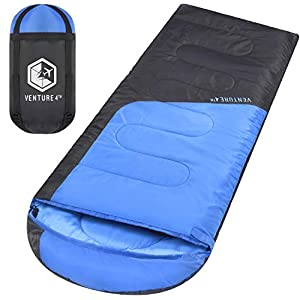 VENTURE 4TH Backpacking Sleeping Bag Lightweight Comfortable Waterproof 3 Season For Hiking Camping And Outdoor Adventures Suitable For Adults And Kids