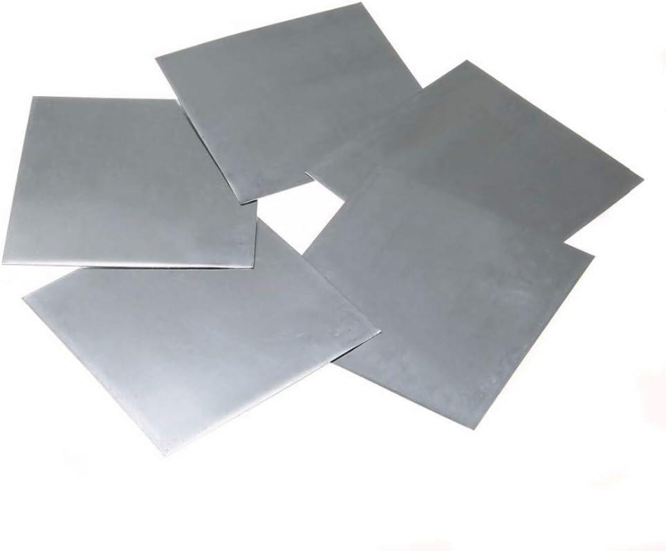 NO LOGO FMN-Tape, 5pcs Blanco Azulado de Metal de Zinc de Alta pureza Placa de Zinc Puro Hoja Placa 140x140x0.2mm for Laboratorio de Ciencias (tamaño : 140 * 140 * 0.2mm)