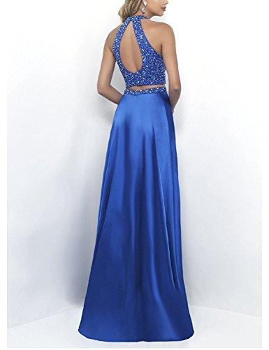 Festkleider teilig Blue Zwei Lang Brautjungfernkleider Royal Abendkleider Bainjinbai BallKleider qxYaOg1pw