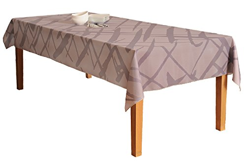 BottleCloth Crisscross Premium Tablecloth - Superior Quality, Easy Clean, Spill Resistant, and Washable. Made from 100% Recycled Materials. Assorted colors and sizes. (60