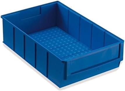 Caja apilable (plástico, 300 x 183 x 81 mm), color azul: Amazon.es ...