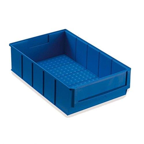 Stapelkiste Lagerkiste Lagerbox Universalbox Industriebox Lagerkasten Kunststoffbox Kunststoffkiste Aufbewahrungskiste Universalkiste 300x183x81mm blau