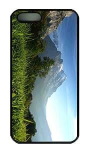 iPhone 5S Case - Customized Unique Design Mountain Pasture 3 New Fashion PC Black Hard by icecream design