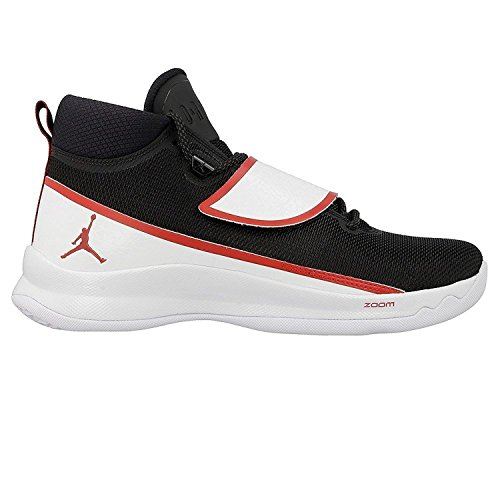 Nike Jordan Super.fly 5 Po, Scarpe Basket uomo Black Gym Red White
