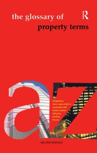 Glossary Of Property Terms  Second Edition