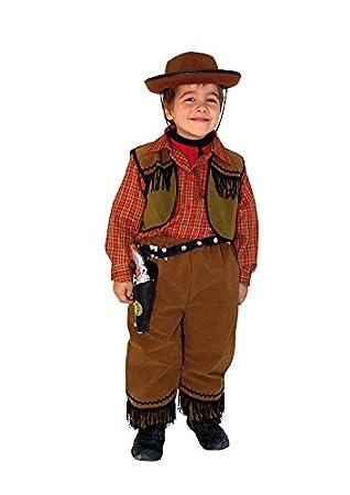 EL CARNAVAL Disfraz Vaquero Infantil Talla de 6 a 8 años: Amazon ...