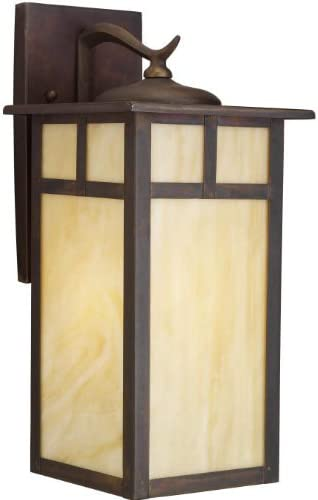 Kichler 9148CV, Alameda Solid Brass Outdoor Wall Sconce Lighting, 150 Total Watts, Canyon View