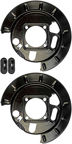 Rear Backing Plate (APDTY 035332 Drum Brake Dust Shield Backing Plate Pair; Rear Left & Right (Replaces 12472851, 12476287, 19178785, 19178786))