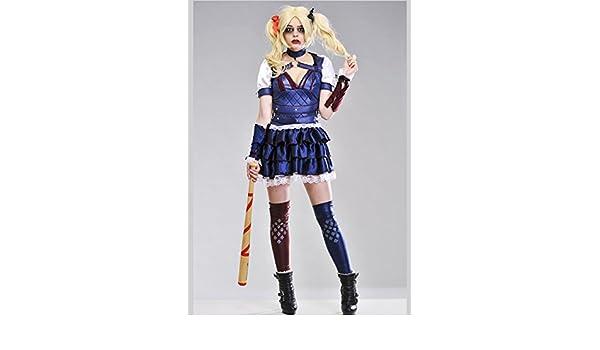 Magic Box Disfraz de señora Arkham City Harley Quinn XS (UK6-8 ...