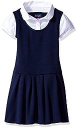 The Children\'s Place Little Girls and Toddler Uniform 2-Fer Dress, Tidal, 5T
