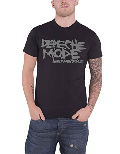Depeche Mode T Shirt People Are People Album Band Logo Official Mens Black ()