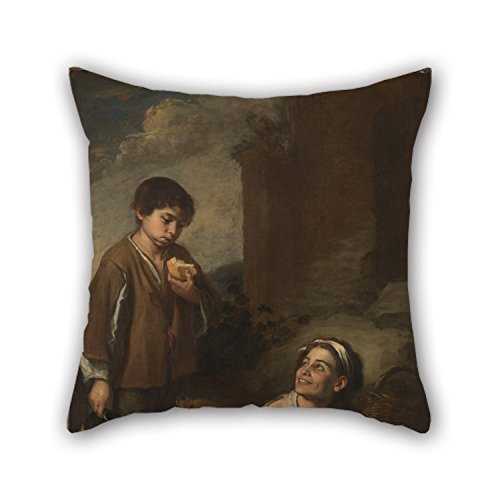 [The Oil Painting Murillo, Bartolomé Estéban - Two Peasant Boys Pillowcase Of ,20 X 20 Inches / 50 By 50 Cm Decoration,gift For Her,teens Girls,birthday,kids Room,dinning Room (2] (Thing 1 And Thing 2 Costumes Spirit Halloween)