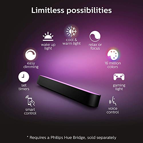 Philips - Hue Play White & Color Ambiance Smart LED Bar Light - Black (Double Pack) (Renewed) by Philips Hue (Image #3)