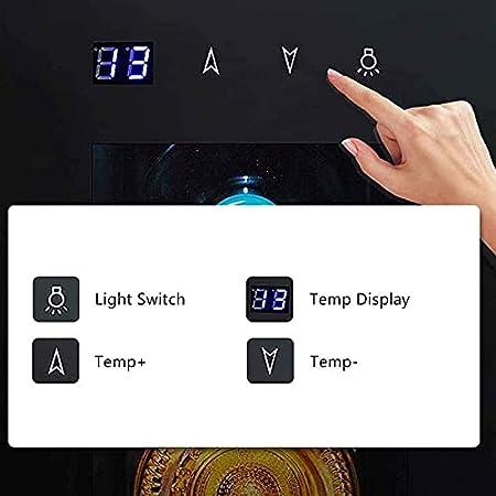 YUN Vinoteca, Temperaturas Ajustables De 8 A 18 °C, Panel De Control Táctil, Iluminación Interior LED, Estantes Metálicos Extraíbles,hasta 4 Botellas, Negro