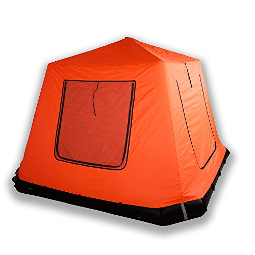 DAMA Air Floor Inflatable Floating Stand up Paddle Board Water Camping Tent Detachable Portable Compact Shelter Easy Set up Multi-Function Fit Mat Orange Spacious for 4-6 People