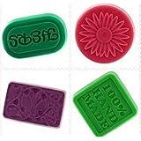 Allforhome 4PCS Place 100% fait main Ovale Rectangle en silicone souple savon moule, Moule à chocolat, Gâteau de cuisson des moules, des Handmade Soap bricolage Moules