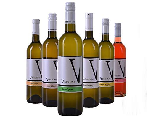 VIPAVA 1894 Weißwein Probierpaket White Label (Gelber Muskateller, Sauvignon, Chardonnay, Grauburgunder, Malvazija, Rosè…
