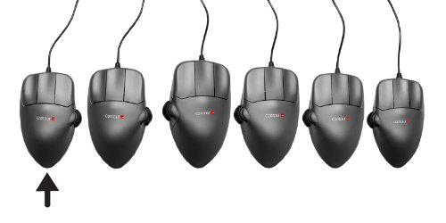 Medium Left Handed Contour Mouse  Ergonomic Wired Usb Mouse  1200Dpi  5 Buttons