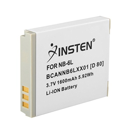 D10 Battery Pack - Insten NB-6L Li-Ion Battery Pack Compatible with Canon SD770 IS, SD1200 IS, & D10 Digital Cameras / Canon Powershot D20