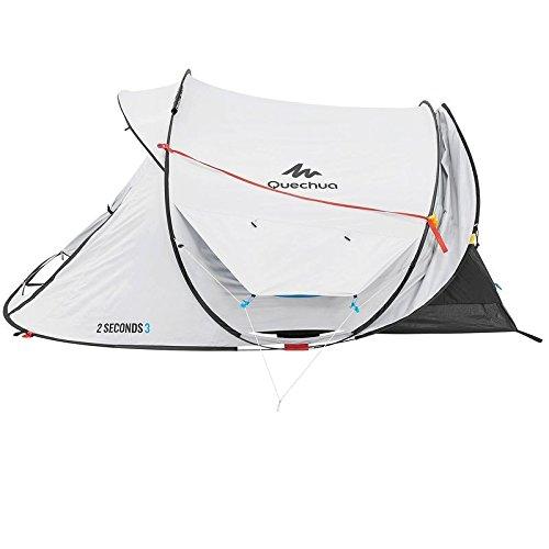 Quechua 2 Seconds Easy III Fresh & Negro 3 Man impermeable tienda desplegable de camping: Amazon.es: Deportes y aire libre